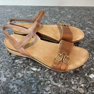 Dansko Rebekah ankle strap sandal brown le…